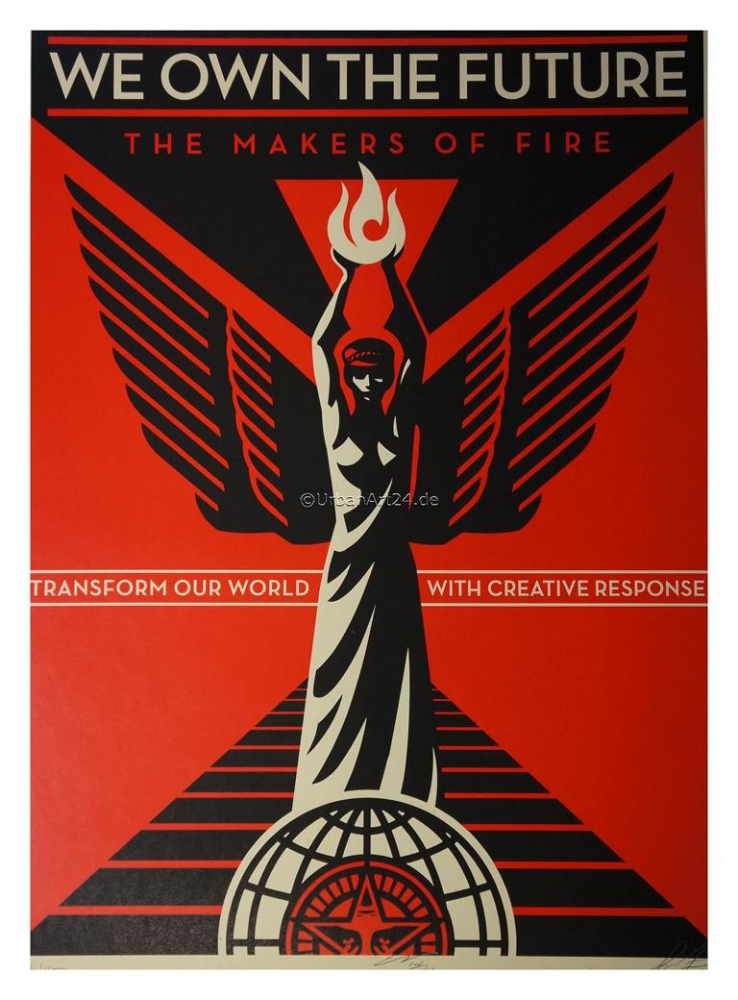 Shepard Fairey We Own The Future print