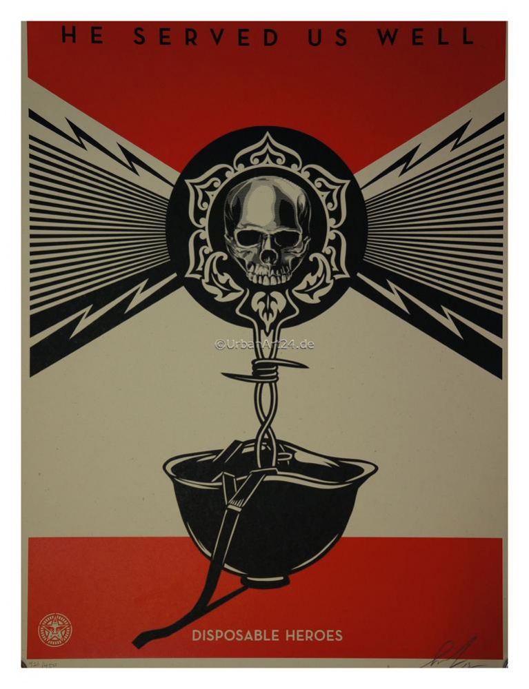 Shepard Fairey Disposable Heros Druck