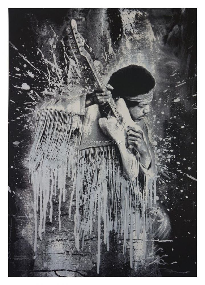 Mr. Brainwash Jimi silver print