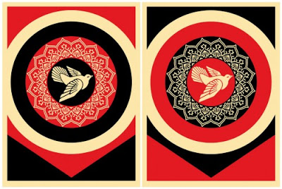 Shepard Fairey Peace Dove Set print