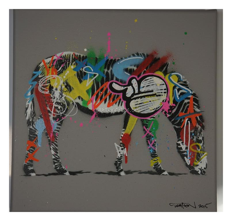 Martin Whatson Zebra canvas