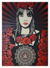Shepard Fairey Rose Girl Druck